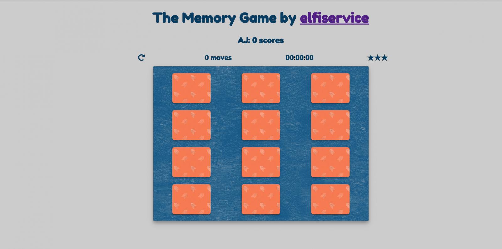 O Jogo da Memória (The Memory Game)