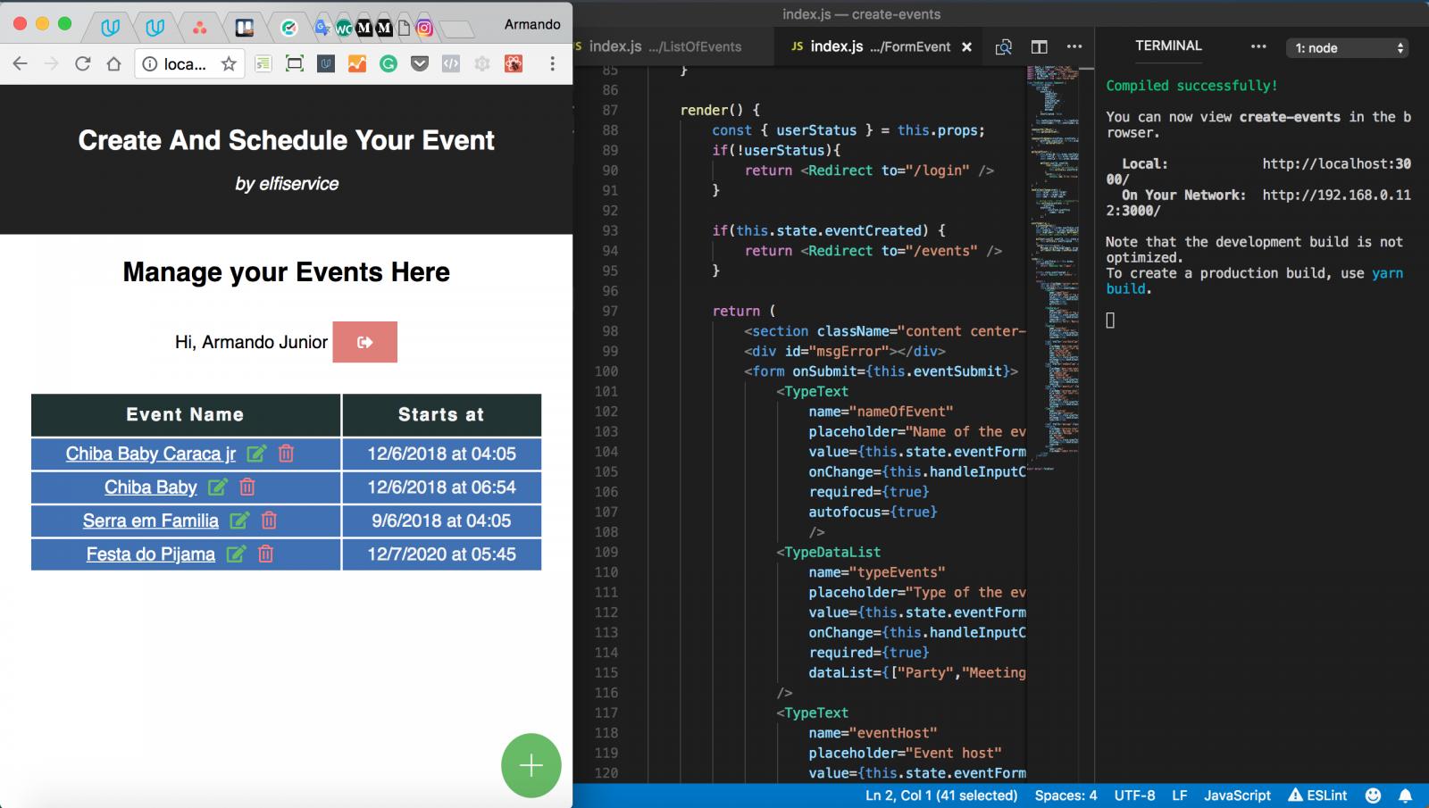Scheduling Event App