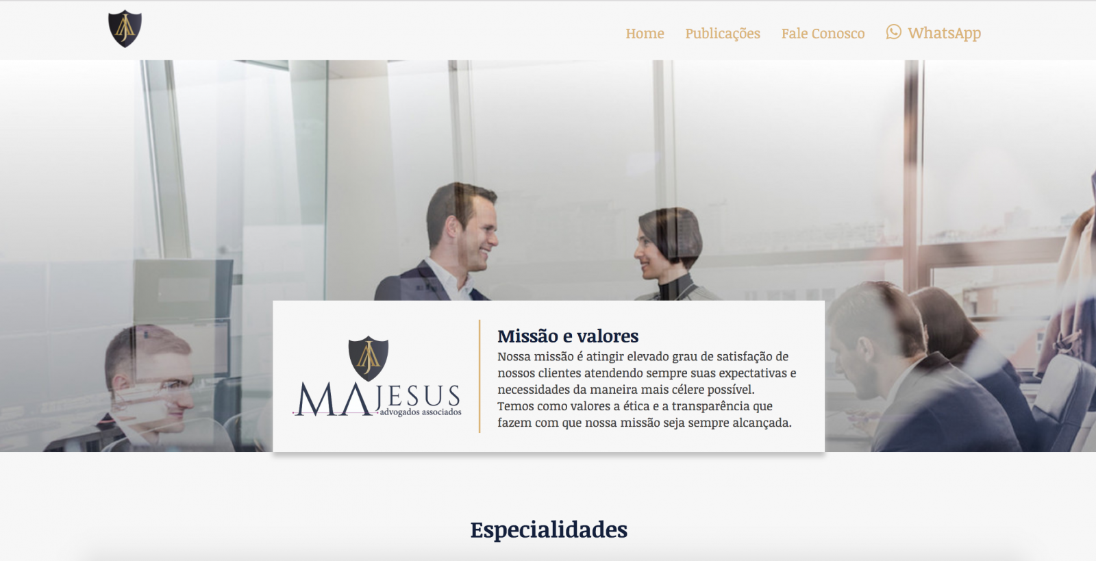 Site Majesus Advogados Associados